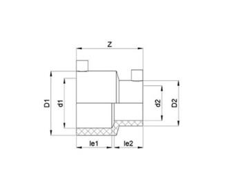 Переход электросварной Ø63 x 32 мм ПЭ100 SDR 11